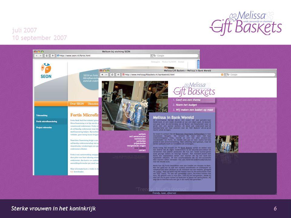 6 Sterke vrouwen in het koninkrijk juli 2007 10 september 2007