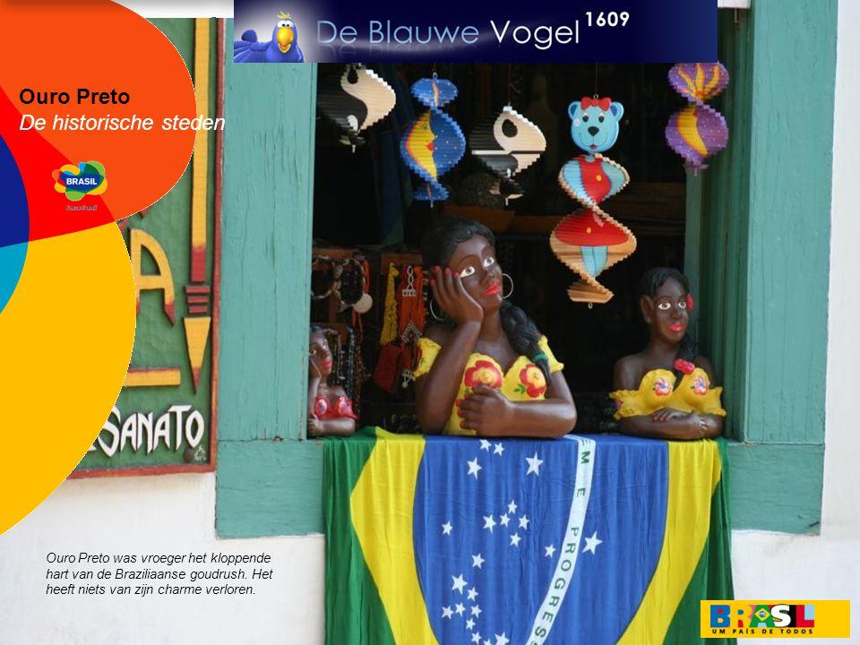 Ouro Preto De historische steden Ouro Preto was vroeger het kloppende hart van de Braziliaanse goudrush. Het heeft niets van zijn charme verloren.