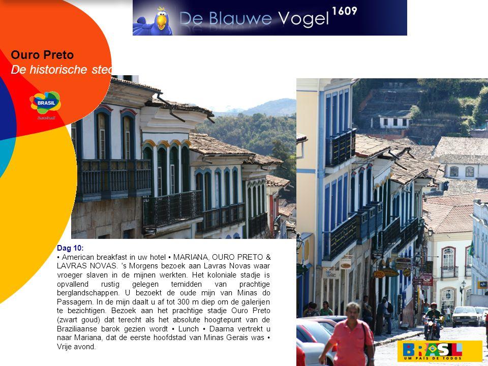 Ouro Preto De historische steden Dag 10: • American breakfast in uw hotel • MARIANA, OURO PRETO & LAVRAS NOVAS. 's Morgens bezoek aan Lavras Novas waa