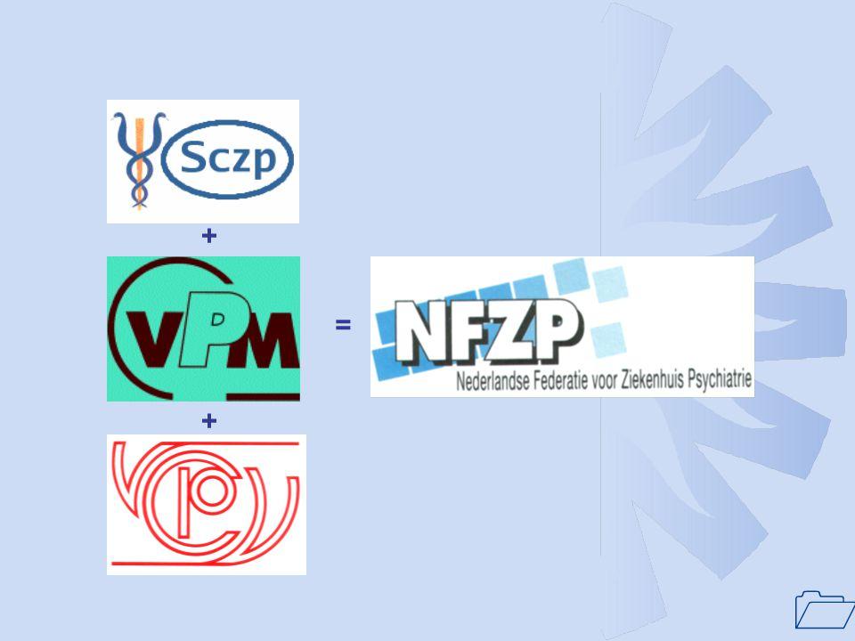 1 Historie(vervolg): •1993: Vorming van één aanspreekpunt ziekenhuispsychiatrie VWS: oprichting NFZP.