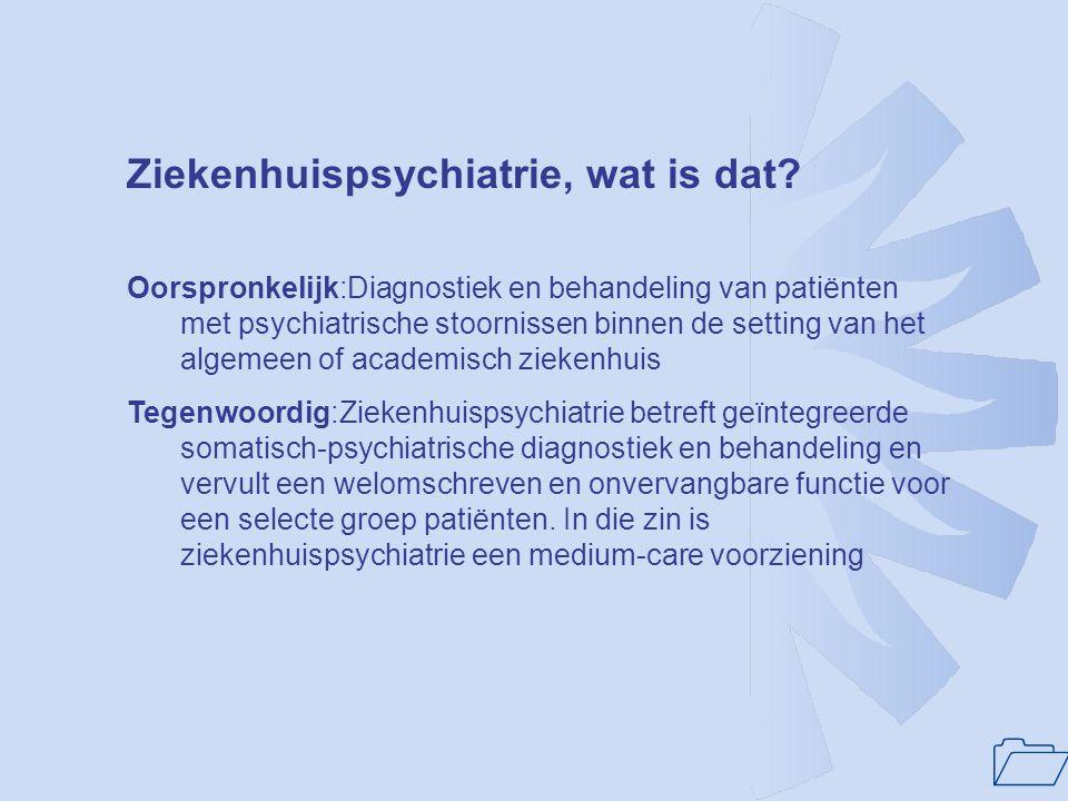 1 NFZP-advies RGC-ontwikkeling: 1.Laat liefst hele RGC, maar tenminste de functie ziekenhuispsychiatrie integreren in ziekenhuis: een gebouw, een behandelvisie, een organisatiestructuur, een directie.