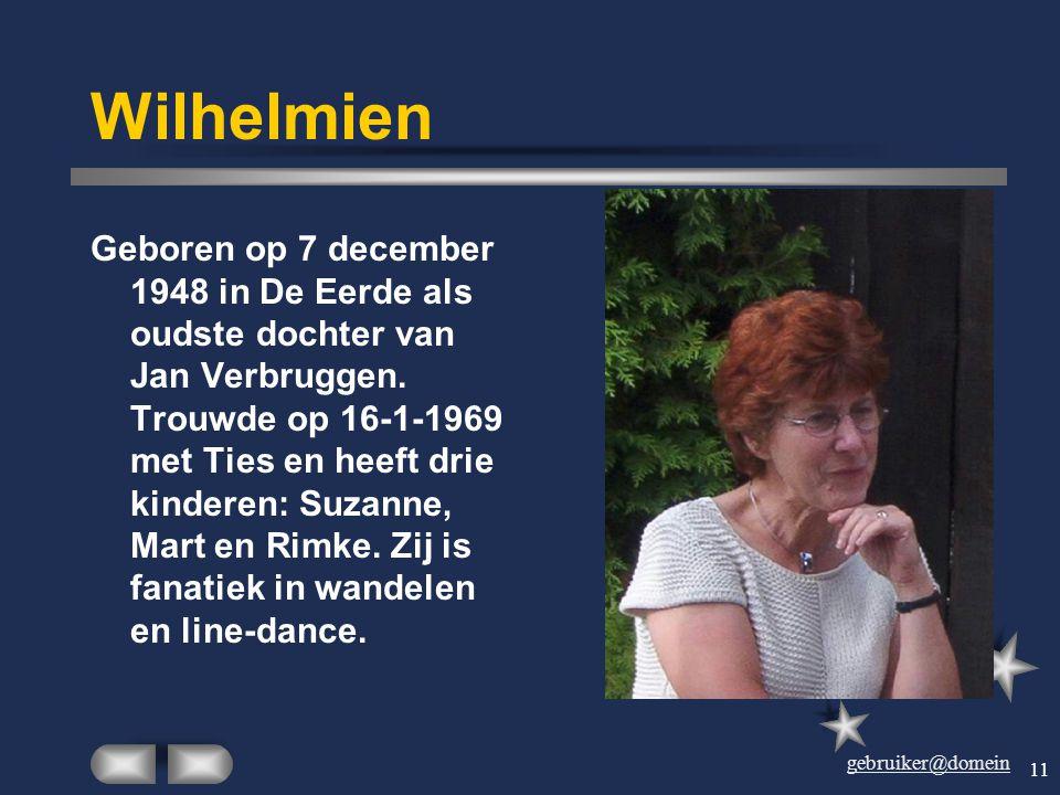 gebruiker@domein 10 Ties Geboren op 26 augustus 1946 in Sint-Oedenrode. Is op 16-1-1969 getrouwd met Wilhelmien Verbruggen en is toen in De Eerde gaan
