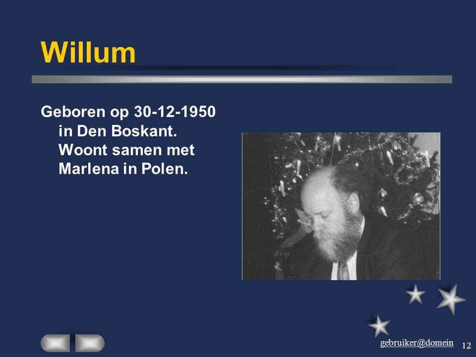 gebruiker@domein 11 Wilhelmien Geboren op 7 december 1948 in De Eerde als oudste dochter van Jan Verbruggen. Trouwde op 16-1-1969 met Ties en heeft dr