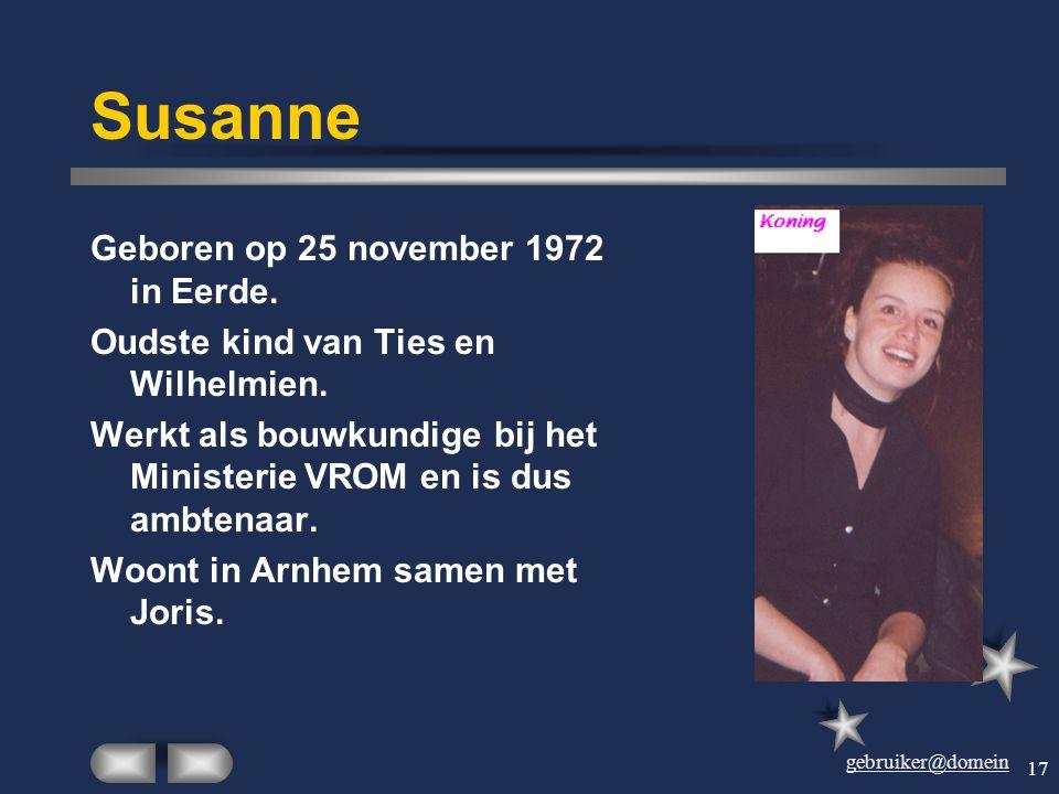gebruiker@domein 16 Louis Geboren op 25 april 1970. Oudste zoon van Joke en Harry, oudste kleinzoon van Dien en Theo. Studeerde aan de Hotelschool en