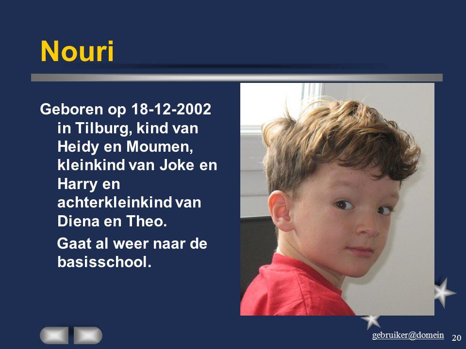 gebruiker@domein 19 Rimke Geboren in Eerde op 6-6- 1978. Jongste dochter van Ties en Wilhelmien en (nog) jongste kleinkind van Dien en Theo. Studeerde