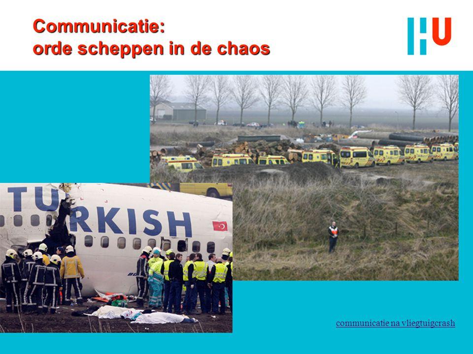 Communicatie: orde scheppen in de chaos communicatie na vliegtuigcrash