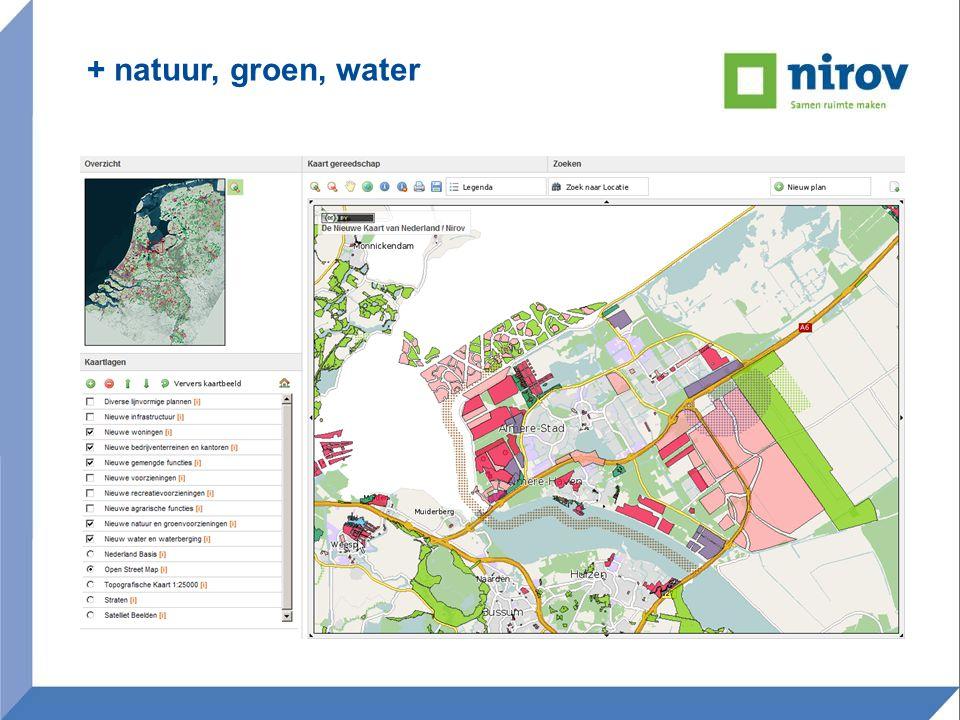 Nieuwe kaart in gebruik •informeren •attenderen •agenderen maatwerk / onderzoek Quickscans Conferenties en debatten