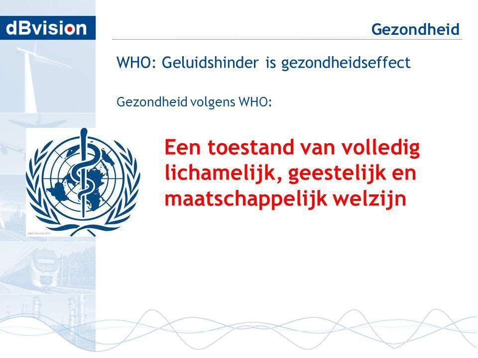 Gezondheid WHO: Geluidshinder is gezondheidseffect Gezondheid volgens WHO: Een toestand van volledig lichamelijk, geestelijk en maatschappelijk welzij