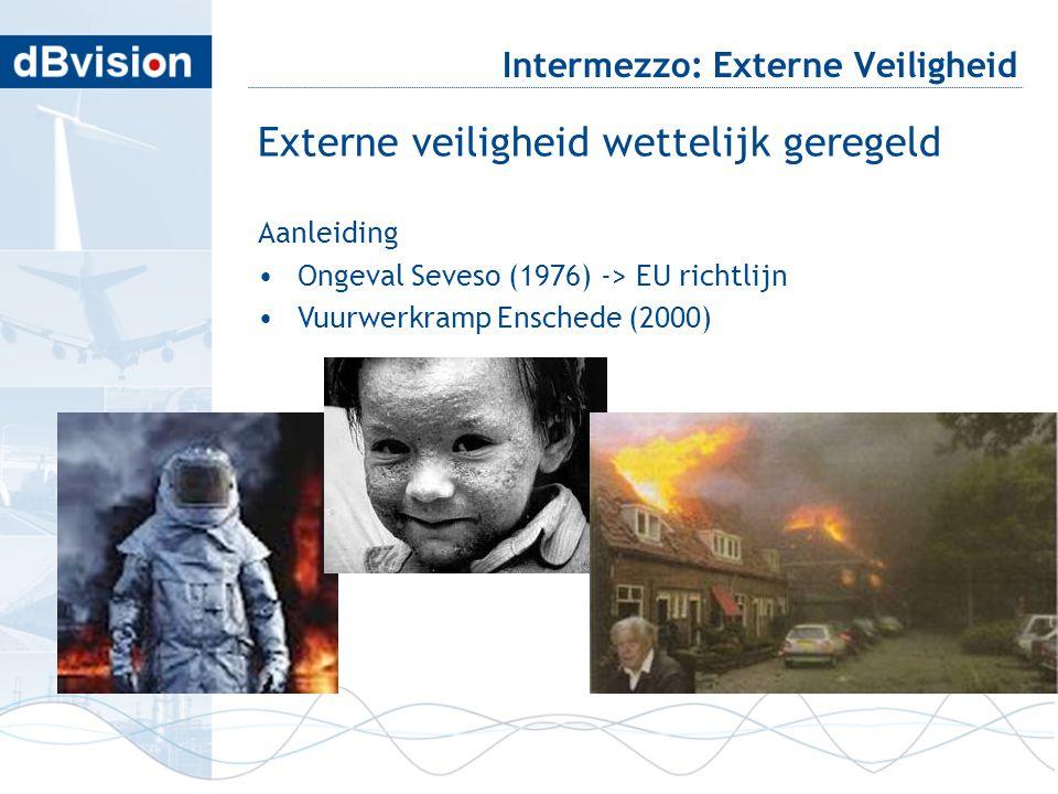 blafd Intermezzo: Externe Veiligheid Externe veiligheid wettelijk geregeld Aanleiding •Ongeval Seveso (1976) -> EU richtlijn •Vuurwerkramp Enschede (2