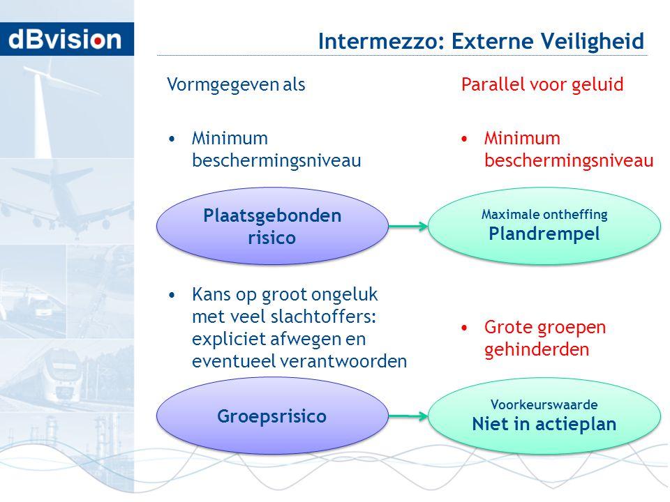 blafd Intermezzo: Externe Veiligheid Vormgegeven als •Minimum beschermingsniveau •Kans op groot ongeluk met veel slachtoffers: expliciet afwegen en ev