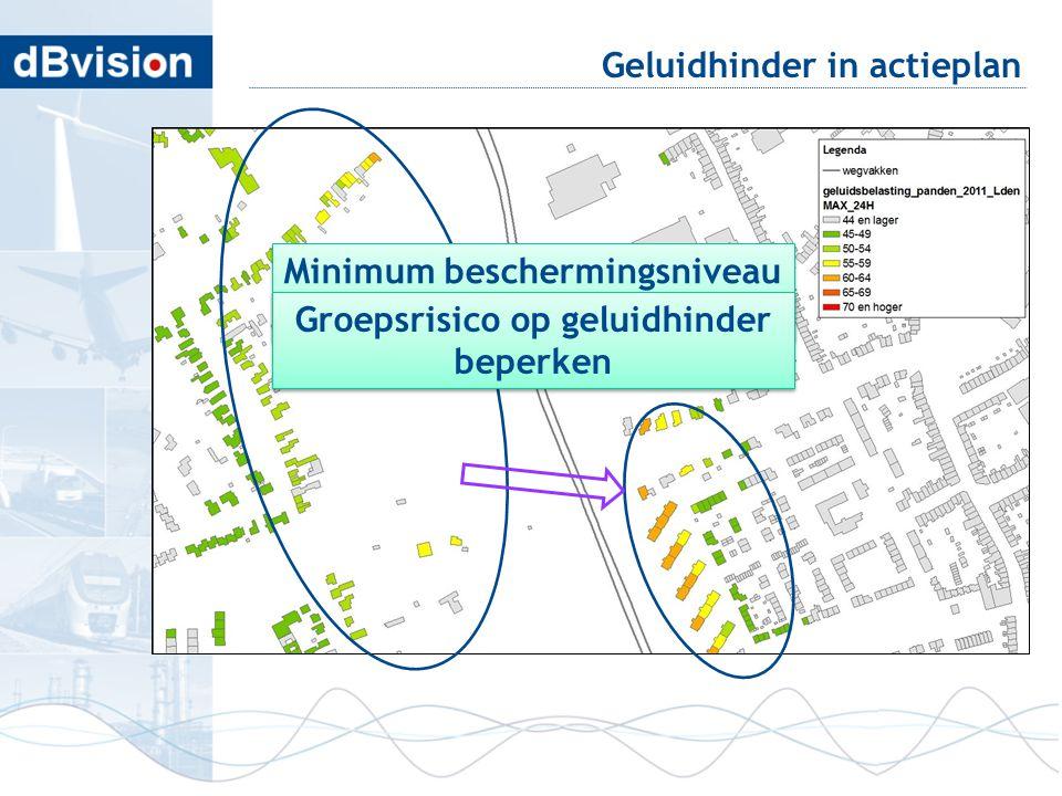 blafd Geluidhinder in actieplan Minimum beschermingsniveau boven plandrempel Minimum beschermingsniveau boven plandrempel Groepsrisico op geluidhinder