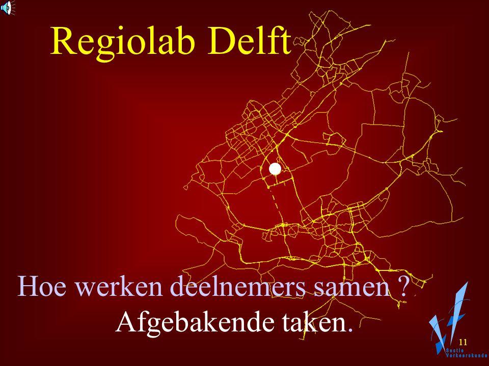 10 Regiolab Delft Hoe werken deelnemers samen ?