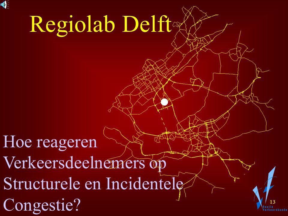 12 Detectie Communicatie Data Verwerken Informeren Databank Wegbeheerders Onderzoek ModellerenRegeling Regiolab Delft Regelen TU-Delft LVV Testcentrum voor Verkeerssystemen Testen en Simuleren Industrie TRAIL/AVV
