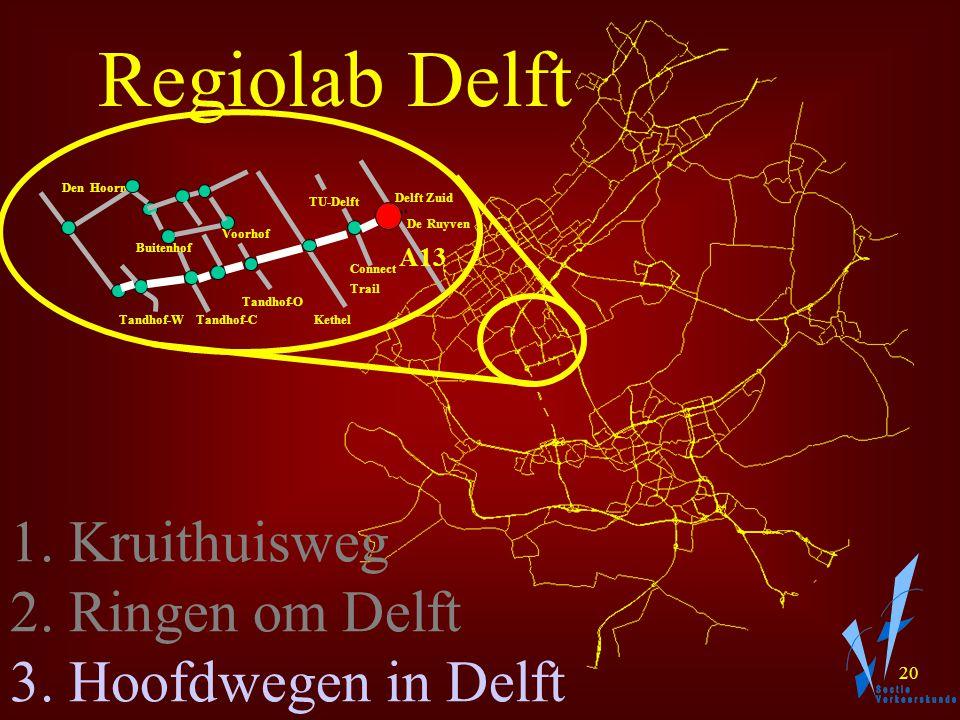 19 Regiolab Delft 1. Kruithuisweg 2. Ringen om Delft