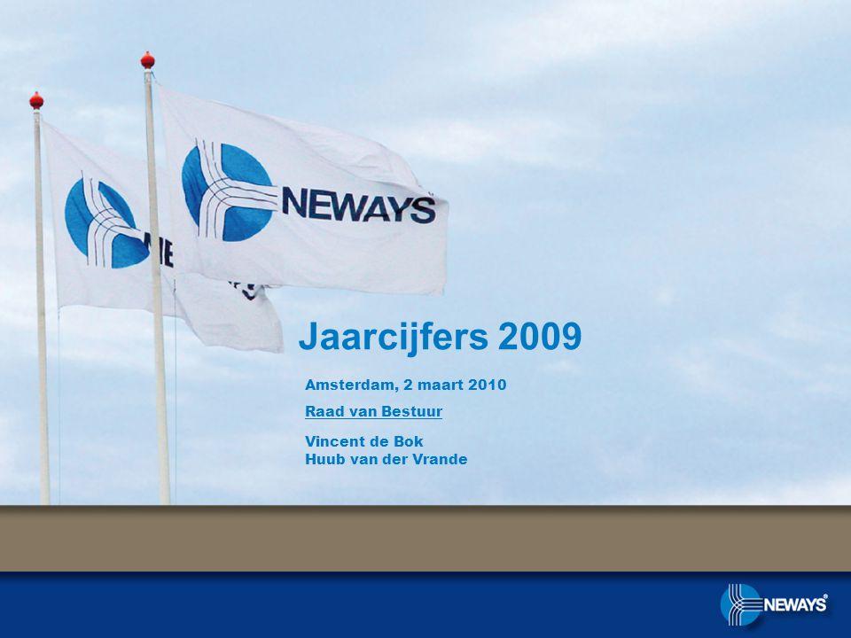 Jaarcijfers 2009 Amsterdam, 2 maart 2010 Raad van Bestuur Vincent de Bok Huub van der Vrande