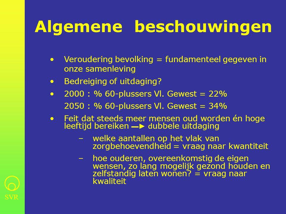 SVR periode 1981- 1999 •Inzake financiering: mixed economy of welfare blijft overeind maar i.t.t.