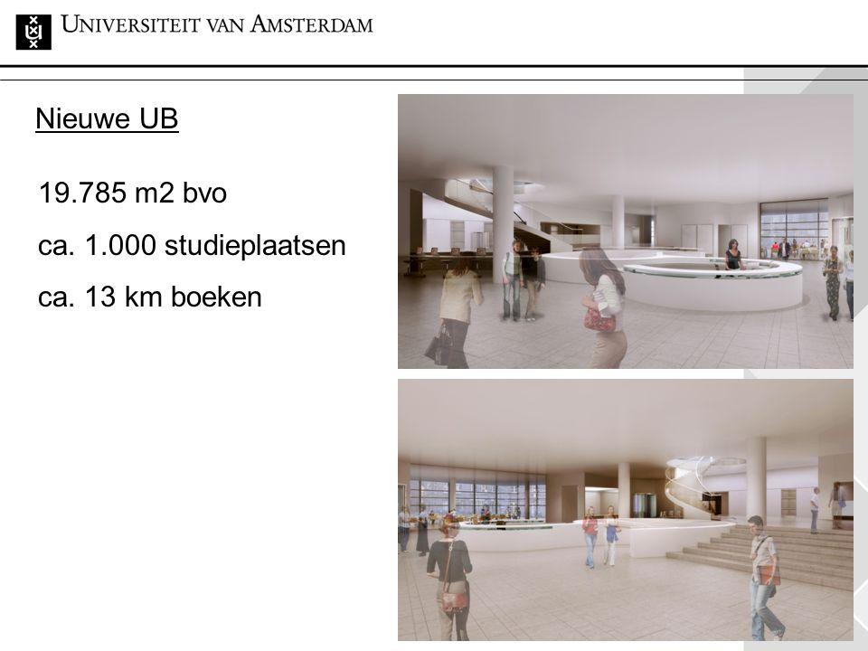 38 19.785 m2 bvo ca. 1.000 studieplaatsen ca. 13 km boeken Nieuwe UB