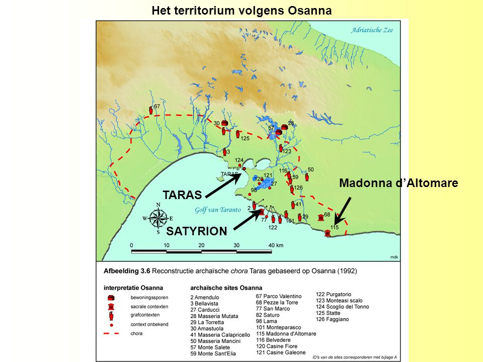 Het territorium volgens Osanna TARAS SATYRION Madonna d'Altomare