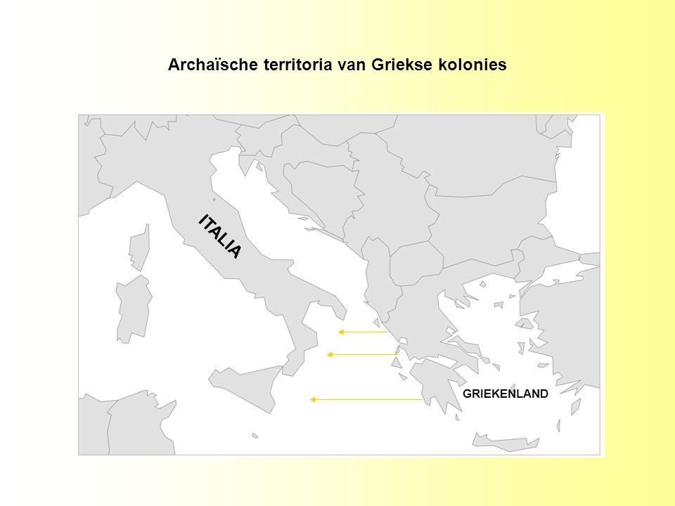 Archaïsche territoria van Griekse kolonies ITALIA GRIEKENLAND