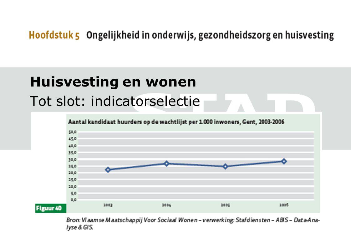 Huisvesting en wonen Tot slot: indicatorselectie