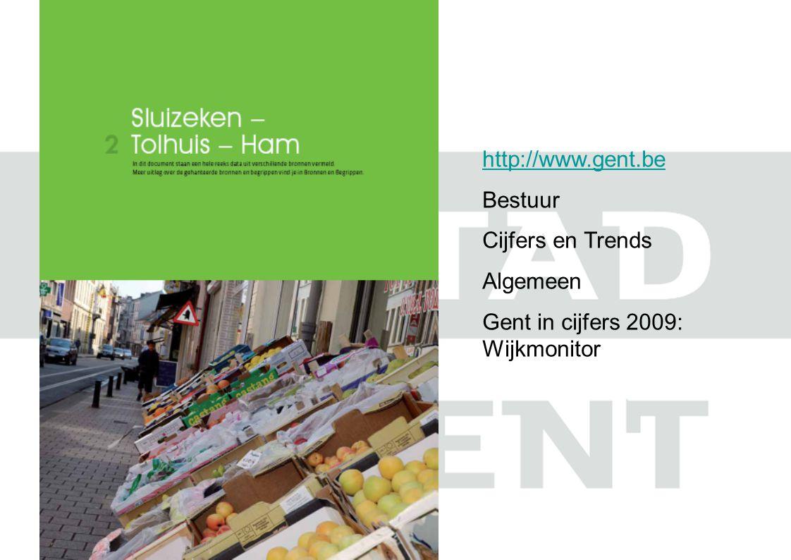 http://www.gent.be Bestuur Cijfers en Trends Algemeen Gent in cijfers 2009: Wijkmonitor