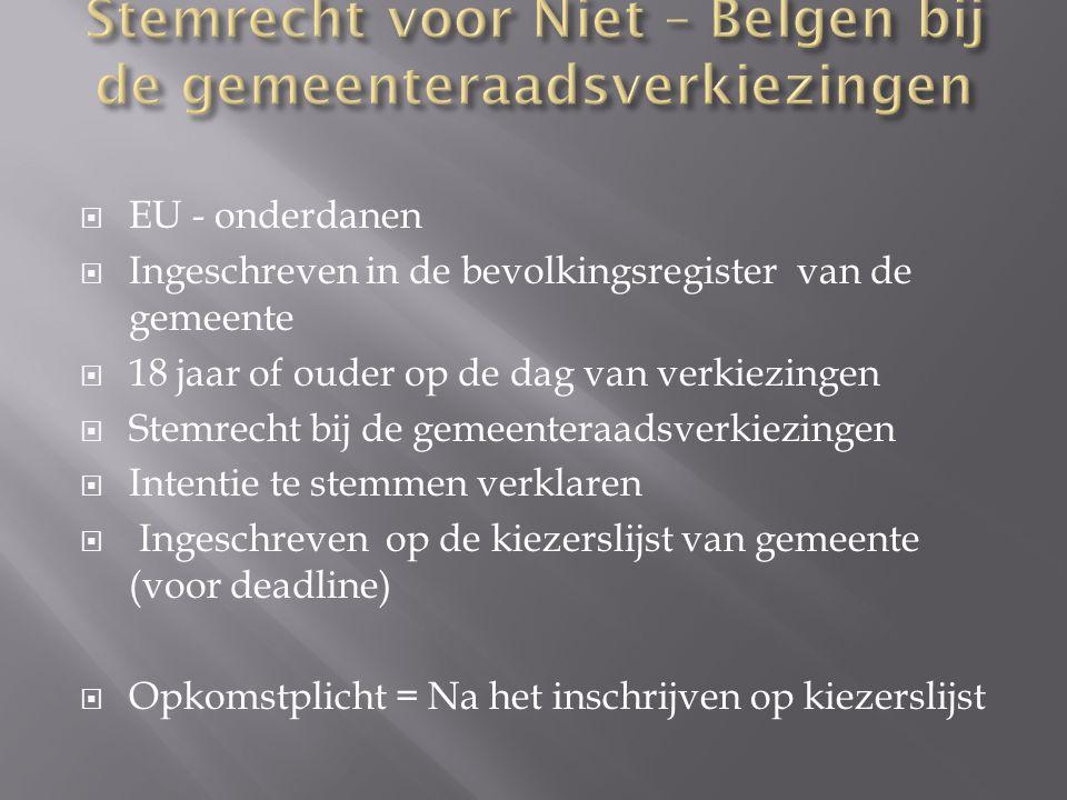  5 jaar ononderbroken, wettelijk verblijf in België  Schrijftelijke aanvraag indienen met vermelding:  Nationaliteit  Het adres van hoofdverblijfplaats  Verbintenis verklaring  De Grondwet, de wetten van België en het EVRM te respecteren  EVRM=Europees Verdrag voor de Rechten van de Mens