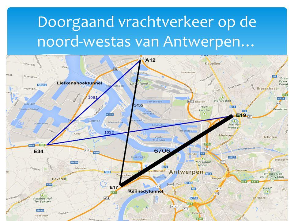 Doorgaand vrachtverkeer op de noord-westas van Antwerpen… 6