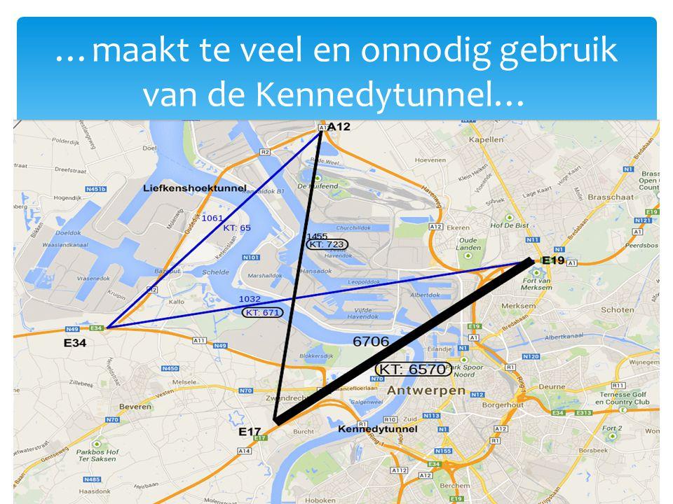 …maakt te veel en onnodig gebruik van de Kennedytunnel… 7