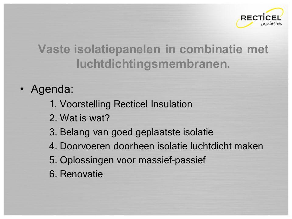 Dag van de installateur 2012 Slide 2 van 28 •Agenda: 1. Voorstelling Recticel Insulation 2. Wat is wat? 3. Belang van goed geplaatste isolatie 4. Door