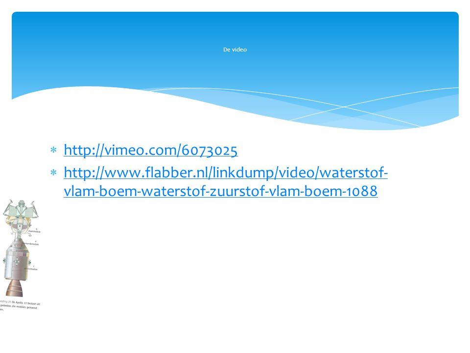  http://vimeo.com/6073025 http://vimeo.com/6073025  http://www.flabber.nl/linkdump/video/waterstof- vlam-boem-waterstof-zuurstof-vlam-boem-1088 http
