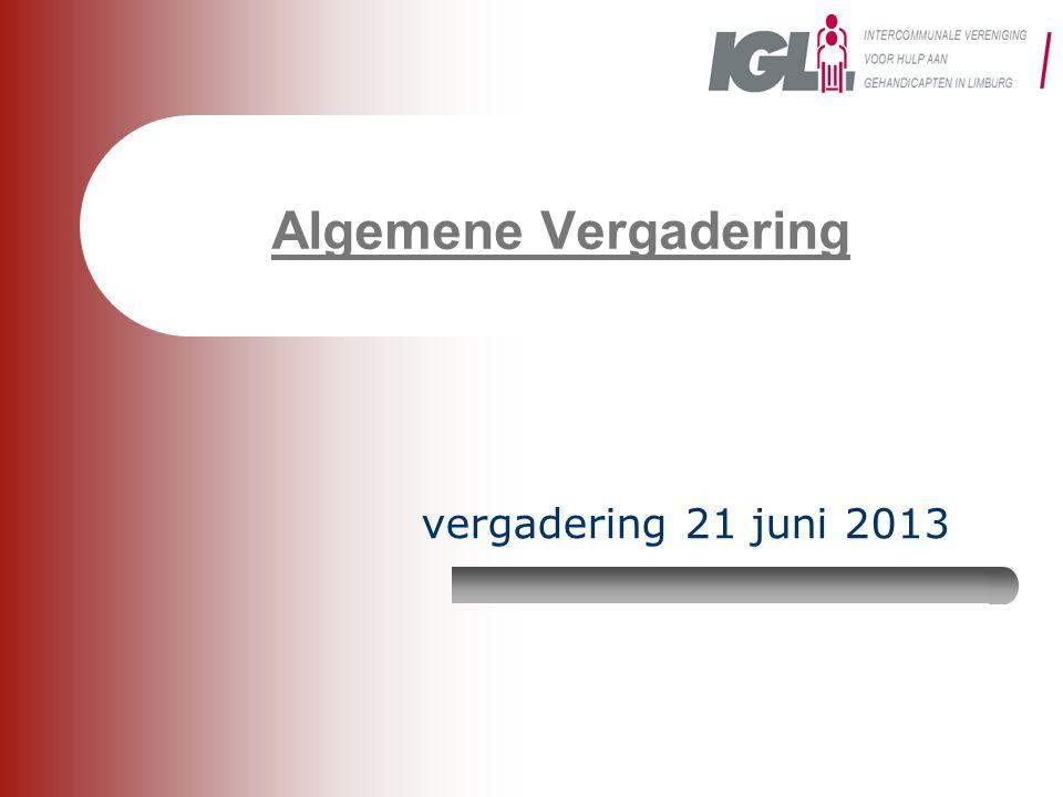 Algemene Vergadering vergadering 21 juni 2013