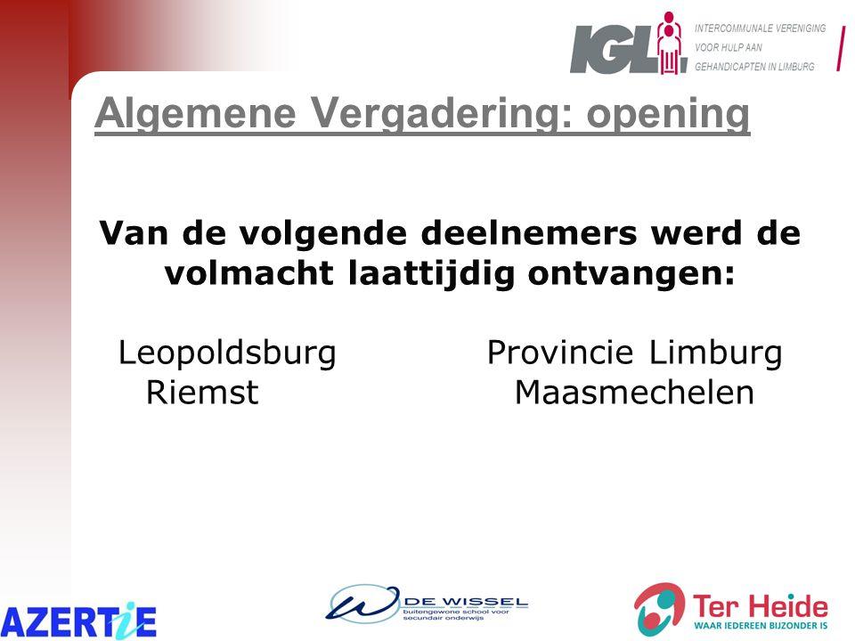 Samenwerking met Diversity 2013 Project ' re – integratie van langdurig zieke werknemers' Limburg: 3 gemeenten namen deel  Bilzen  Bocholt  Maasmechelen