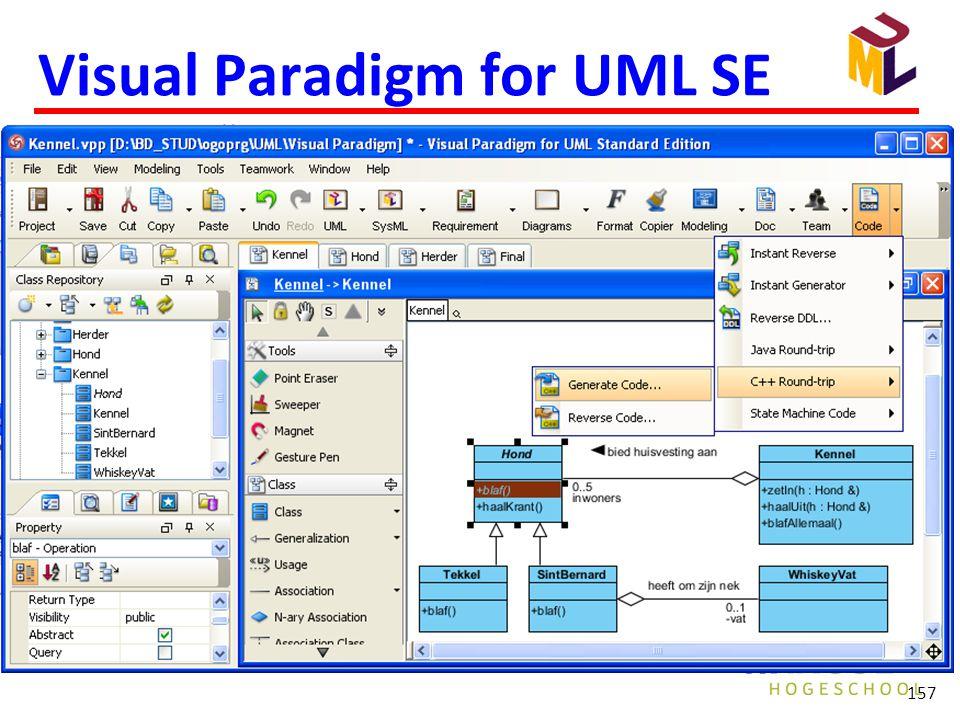 Visual Paradigm for UML SE 157