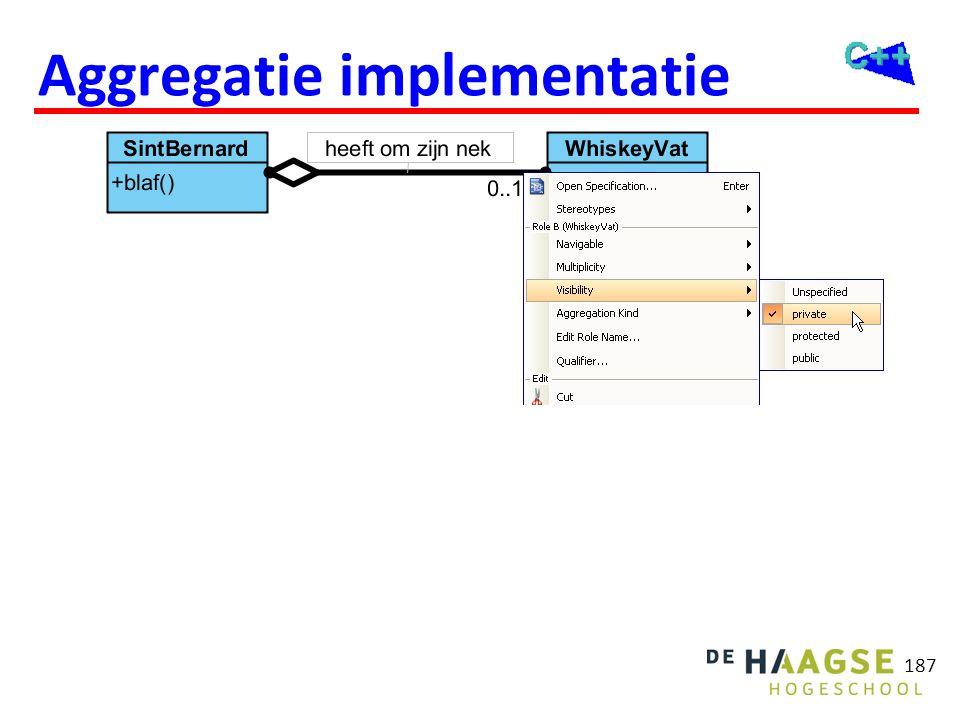 187 Aggregatie implementatie