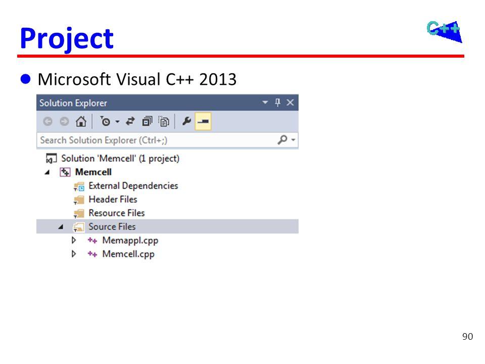 90 Project  Microsoft Visual C++ 2013