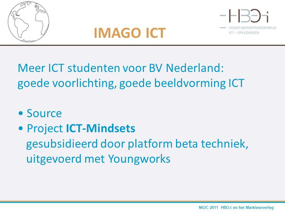 NIOC 2011 HBO-I en het Markiesoverleg IMAGO ICT Meer ICT studenten voor BV Nederland: goede voorlichting, goede beeldvorming ICT • Source • Project IC