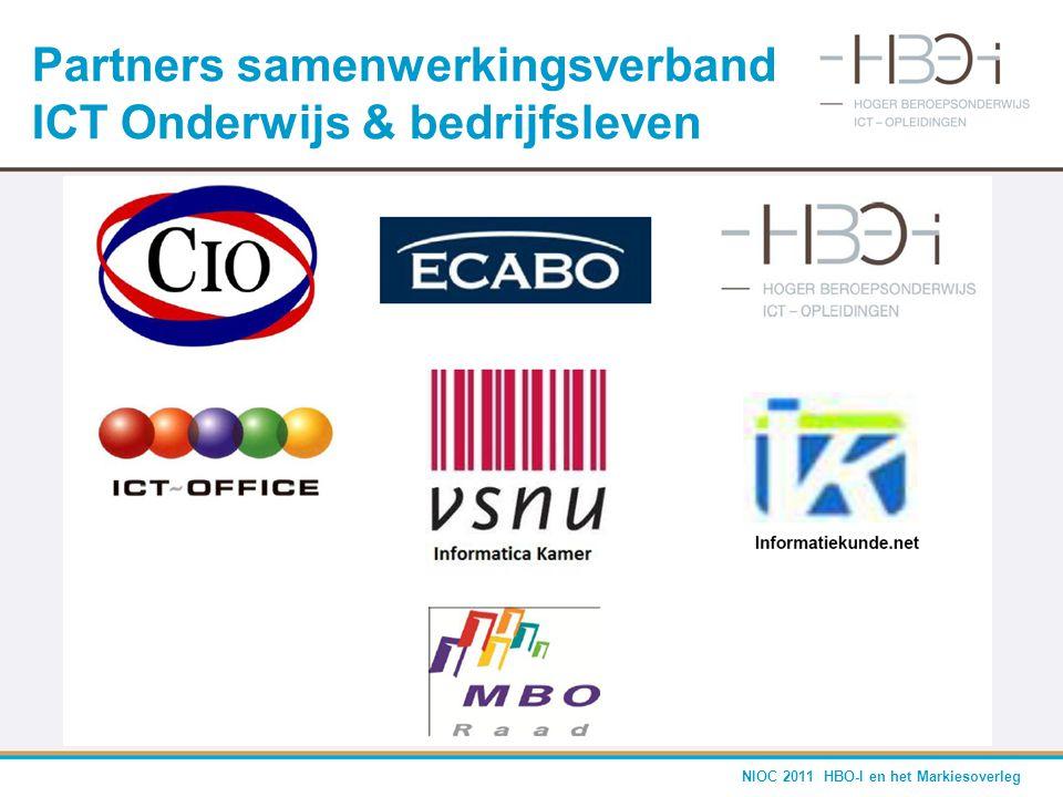 NIOC 2011 HBO-I en het Markiesoverleg Partners samenwerkingsverband ICT Onderwijs & bedrijfsleven