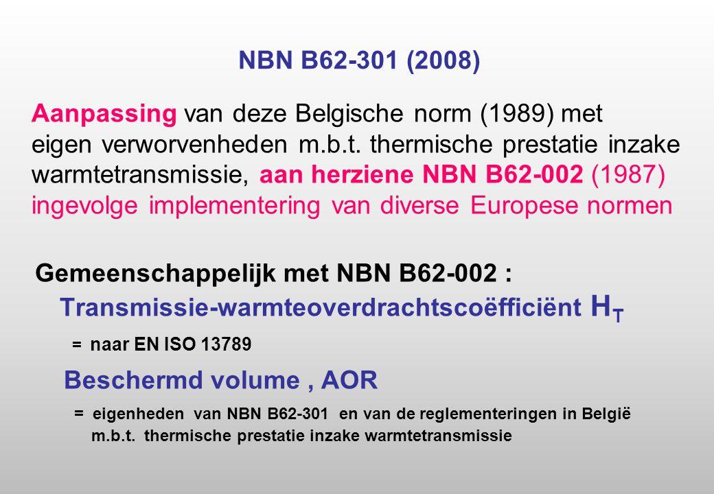 NBN B62-301 (2008) Aanpassing van deze Belgische norm (1989) met eigen verworvenheden m.b.t.