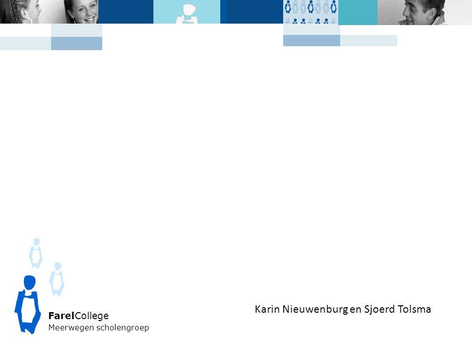FarelCollege Meerwegen scholengroep Karin Nieuwenburg en Sjoerd Tolsma
