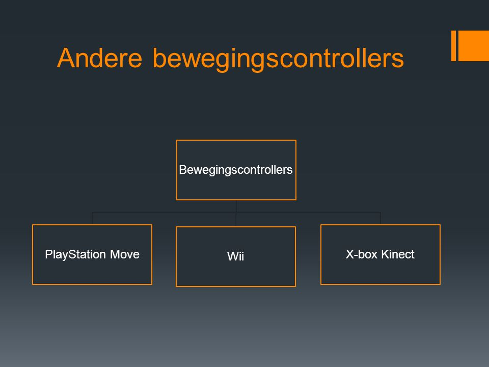 Andere bewegingscontrollers Bewegingscontrollers PlayStation Move Wii X-box Kinect