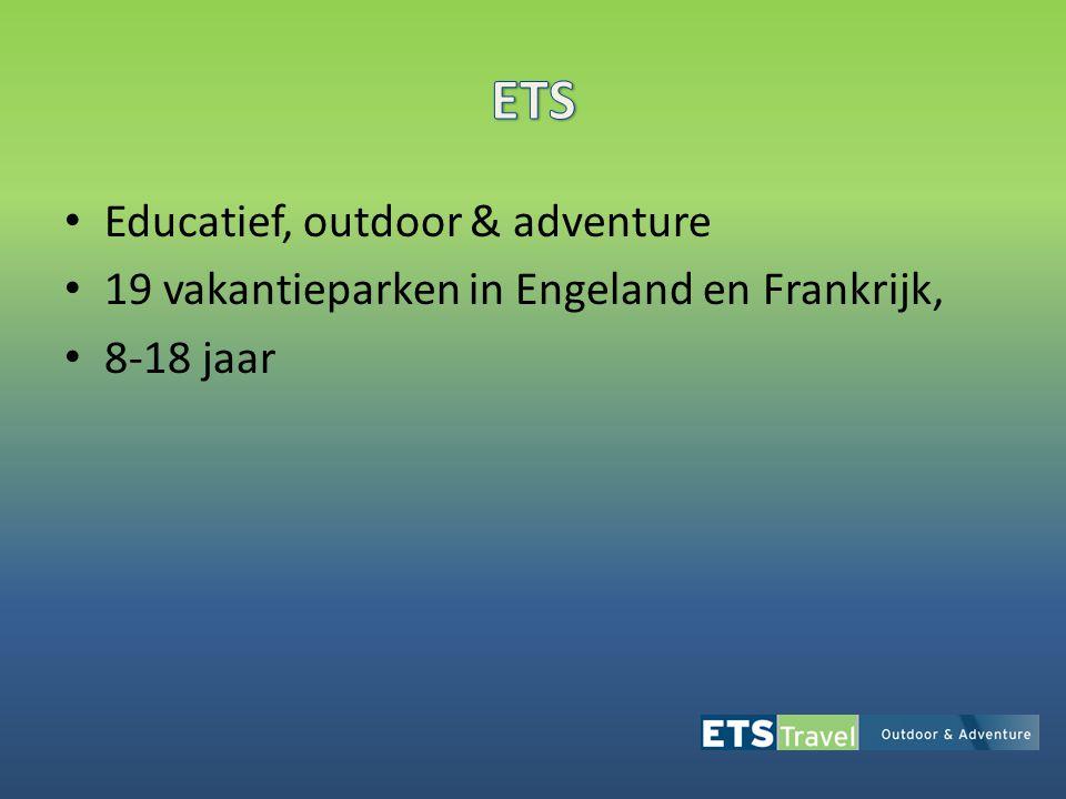 • Educatief, outdoor & adventure • 19 vakantieparken in Engeland en Frankrijk, • 8-18 jaar