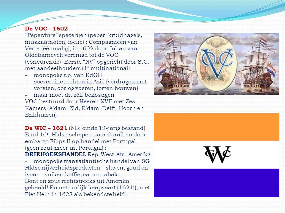 """De VOC - 1602 """"Peperdure"""" specerijen (peper, kruidnagels, muskaatnoten, foelie) : Compagnieën van Verre (éénmalig), in 1602 door Johan van Oldebarneve"""