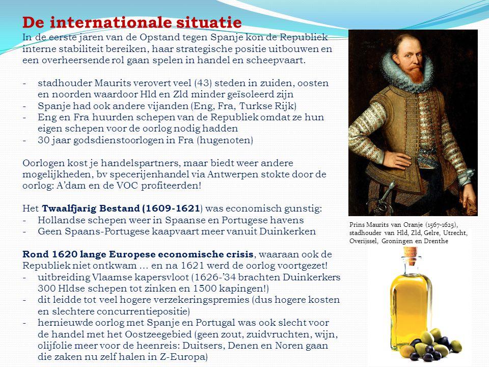 Prins Maurits van Oranje (1567-1625), stadhouder van Hld, Zld, Gelre, Utrecht, Overijssel, Groningen en Drenthe De internationale situatie In de eerst