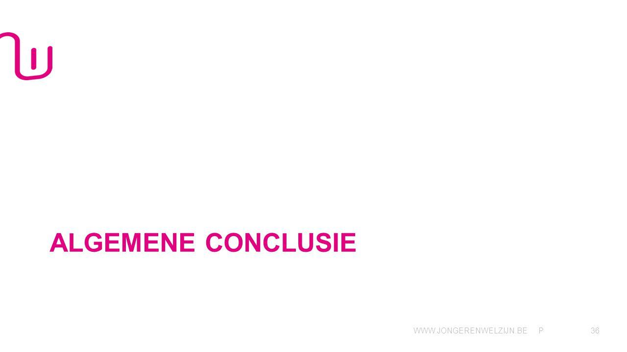 WWW.JONGERENWELZIJN.BE P ALGEMENE CONCLUSIE 36