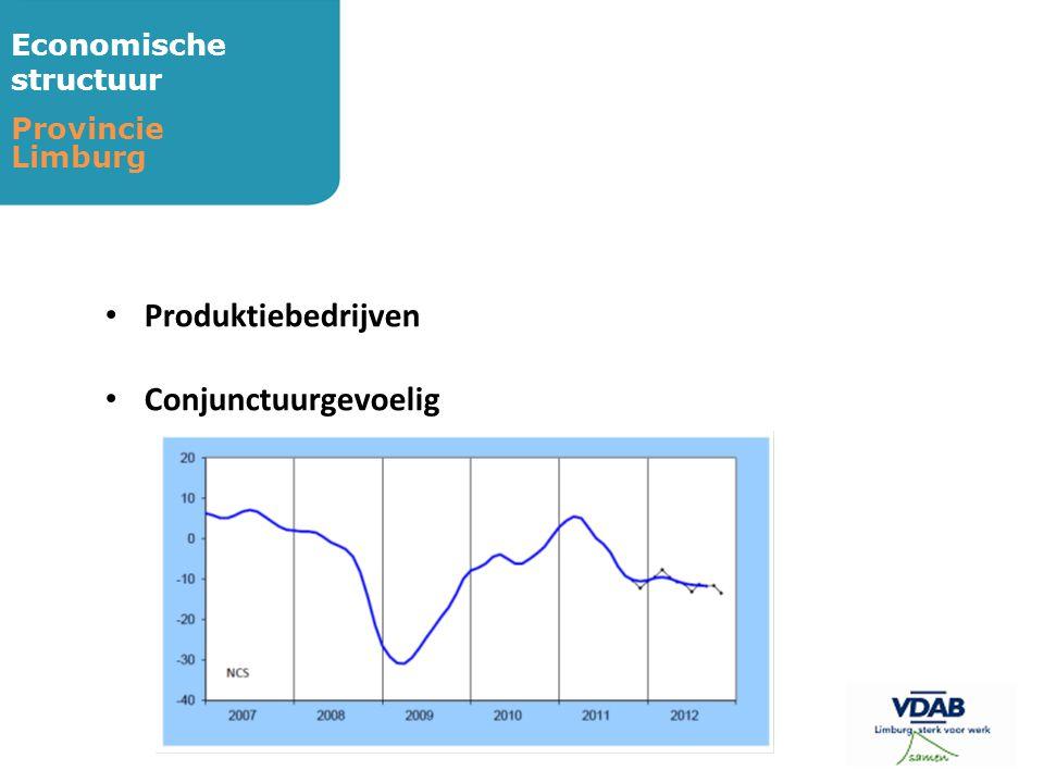 Economische structuur Provincie Limburg • Produktiebedrijven • Conjunctuurgevoelig