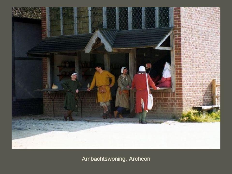 Ambacht aan het werk in het huis voor het uitstalraam, Archeon
