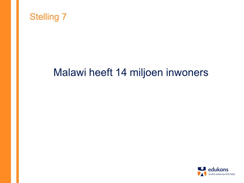Stelling 7 Malawi heeft 14 miljoen inwoners