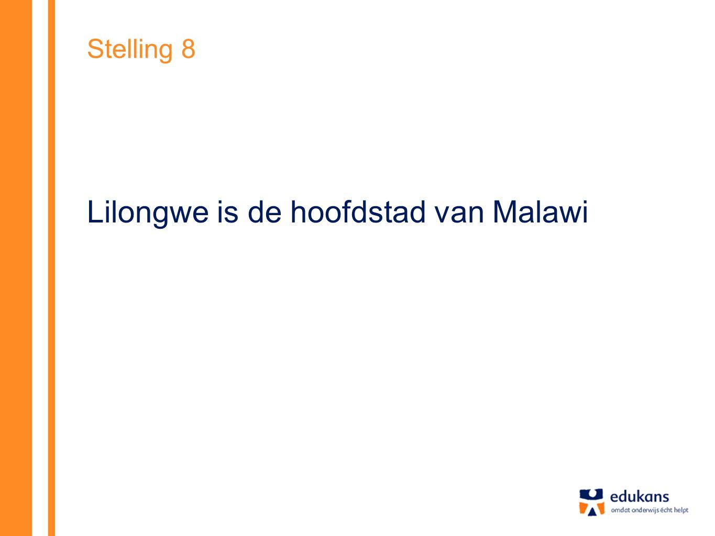 Stelling 8 Lilongwe is de hoofdstad van Malawi