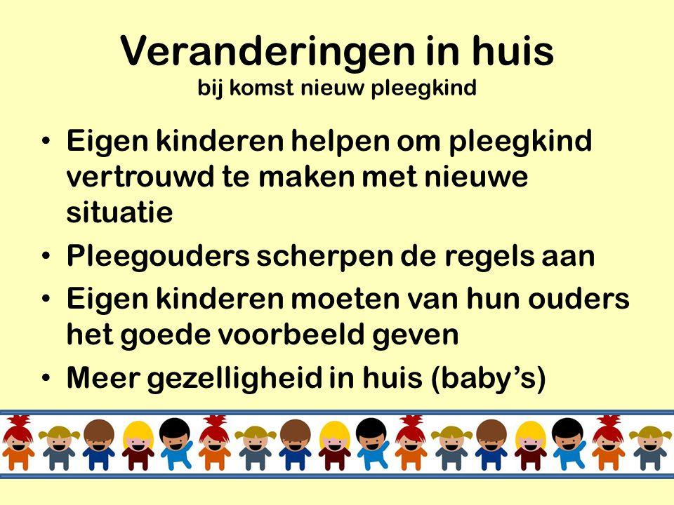 Eigen kinderen van pleegouders tussen 7 en 21 jaar • Hun ouders willen kinderen helpen die niet thuis kunnen wonen. • Hun ouders hebben plezier in kin