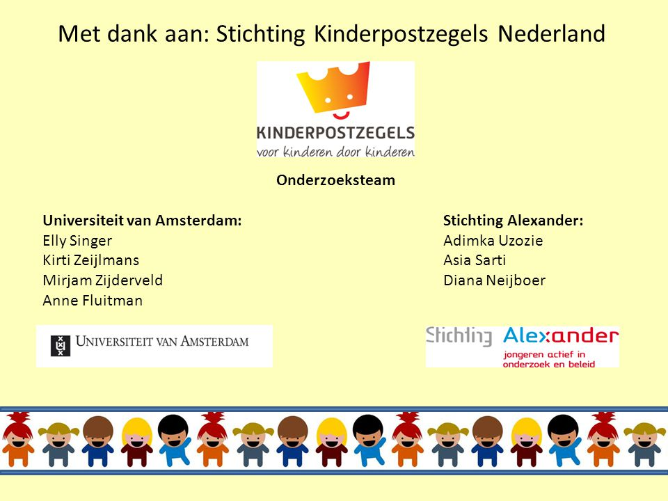 "Luisteren naar de stemmen van kinderen ""We can never effectively help a child unless we can understand his reactions to his past and fears for his fut"